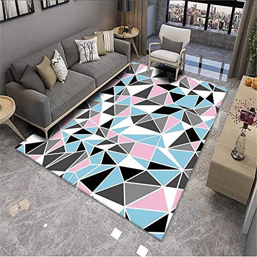nursery rug Living room rug blue pink triangle modern minimal carpet anti-mites Pink xl rug 80x160cm carpet rug 2ft 7.5''X5ft 3''