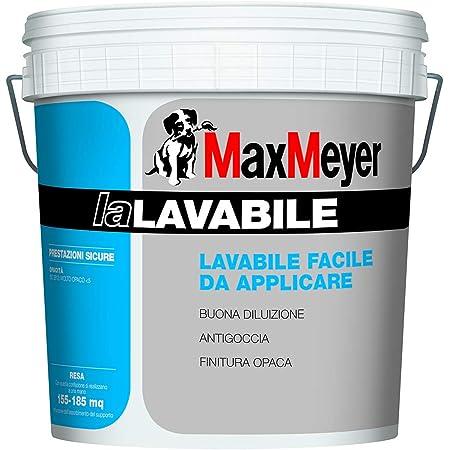 Pittura Murale Idropittura La Lavabile Per Interni Bianca Lt 4 Max Meyer Amazon It Fai Da Te
