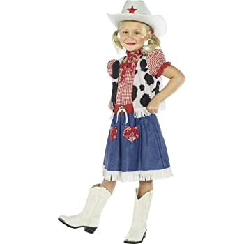 NET TOYS Traje de Vaquera para niña Disfraz Oeste Vestuario ...