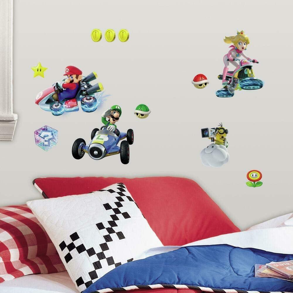 RoomMates RMK2728SCS Nintendo Mario Kart 8 Peel and Stick Wall Decals