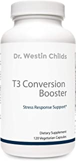 Dr. Westin Childs - T3 Conversion Booster - Naturally Support T4 to T3 Conversion, Thyroid Biosynthesis, and Cellular Sensitivity - Non-GMO, GMP Certified, 60 Day Supply