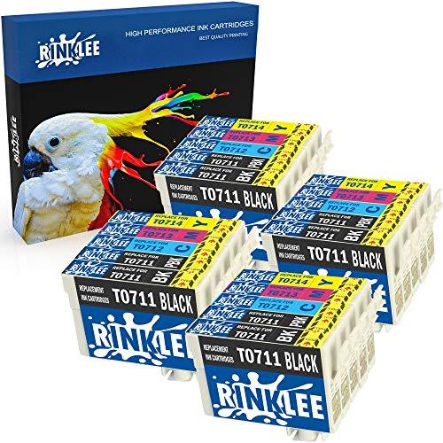 RINKLEE 20 Compatibles T0715 T0711-T0714 Cartuchos de Tinta Reemplazo para Epson Stylus S20 S21 SX100 SX115 SX200 SX218 SX405 SX415 SX515W SX600FW SX610FW BX300F BX600FW BX610FW D92 DX4000 DX7400