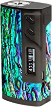 Skin Decal Vinyl Wrap for Sigelei 213W TC Temp Control Vape Mod Skins Stickers Cover / Abalone Ripples Green Blue Purple Shells