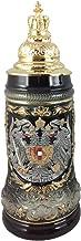 German Beer Stein Austria Coat of Arms Stein 0.5 liter tankard, beer mug