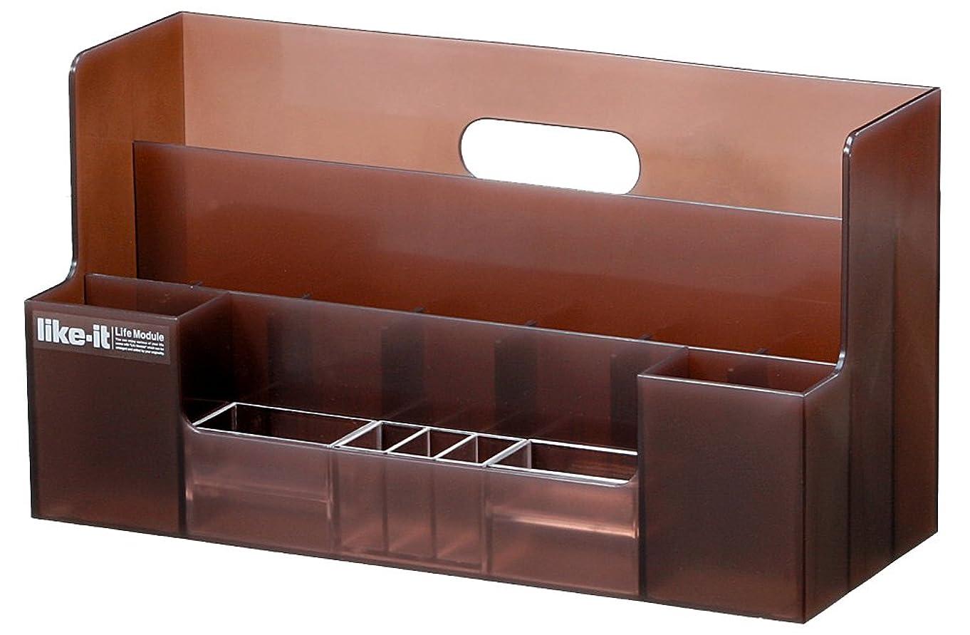 ペルメルブーム質素なLife Module オーガナイザーワイド ブラウン LM-03