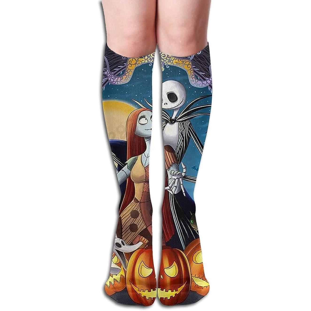 一節扇動する傘qrriyジャックスキレントンクリスマスチューブストッキングレディース冬暖かい膝ハイソックスブーツ靴下