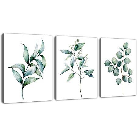 Eucalyptus Leaves Green Violet Wall Fine Art Print Botanical Watercolor Painting Art Eucalyptus Leaves Art Print