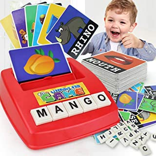 AM ANNA Matching Letter Game, Alphabet Reading & Spelling, Words & Objects, Number & Color Recognition, Educational Learni...