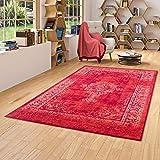 Passion - Alfombra de Diseño - Vintage - Borde Rojo - 5 tamaños