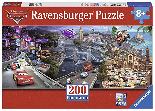 Ravensburger 12645 - Disney Cars Panoramic - 200 Teile XXL Panorama-Puzzle