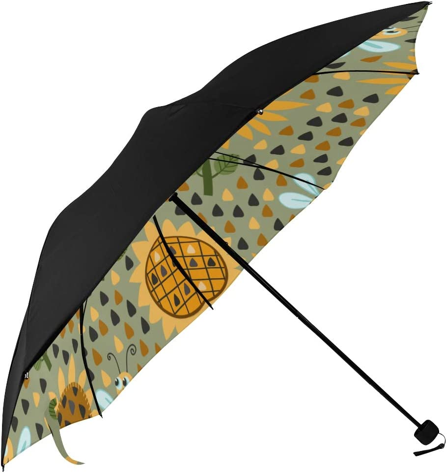 Long Umbrella Yellow Floral discount And Bombing new work Bee Printing Smart Underside Men