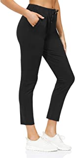 KISSOURBABY Women's Joggers Drawstring 7/8 Pants with Pockets Tapered Running Sweatpants for Women Lounge, Jogging