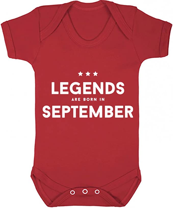 illustratedidentity Legends are Born in October Baby Vest Boys Girls