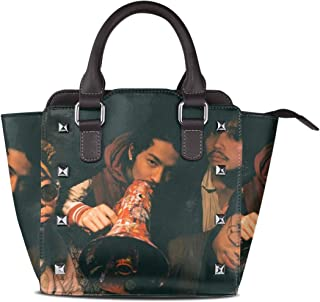 【エイシサリコ】King Gnu トートバッグ ショルダーバッグ リベットバッグ 手提げバッグファッション キュート 人気 ガールバッグ レディース レザー 女性用 通学 通勤 大容量