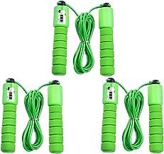Abaodam 3 Stks Elektronische tellen Jump Touw Springtouw Fitness Workout Gewicht Lager Sport Accessoires voor Gym Training...