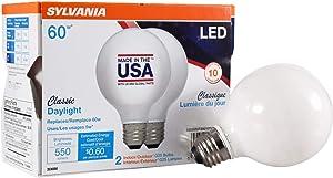 LEDVANCE 40219 LED Light Bulb, Daylight, 2 Count