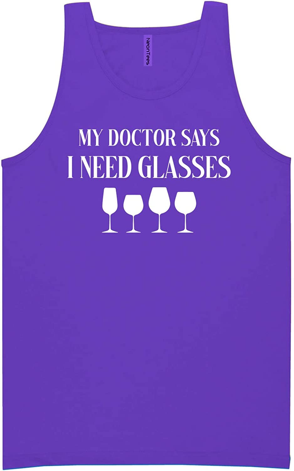 My Doctor Says I Need Glasses Neon Tank Top