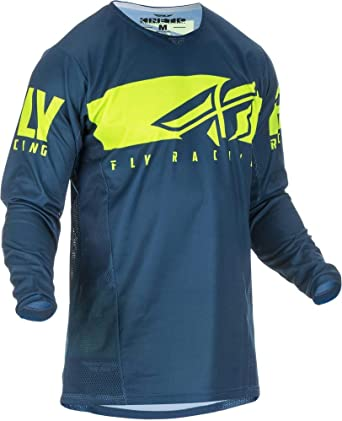 Fly Racing Jersey Kinetic Shield Port Blau Bekleidung