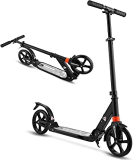 WeSkate Scooter for Adults/Teens, Big Wheels Scooter Easy Folding Kick Scooter Durable Push Scooter Support 220lbs Suitabl...