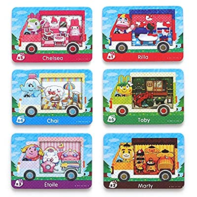 For Animal Crossing New Horizons ACNH Sanri Collaboration Pack Mini card, 6 pcs RV Villager Furniture Compatible with Switch/Switch Lite/New 3DS from Zenitsu