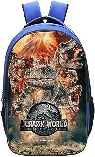 Mochila Escolar 3D para Niños Jurassic World Dinosaur Impreso Bookbags 16 Pulgadas para Niños De 5-12 Años E-42 * 29 * 16cm