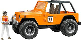 Bruder Jeep Cross Country Racer Vehicle with Driver Orange
