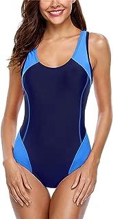 ALove Women Athletic Racerback One Piece Swimsuit Sport Bathing Suit Swimwear