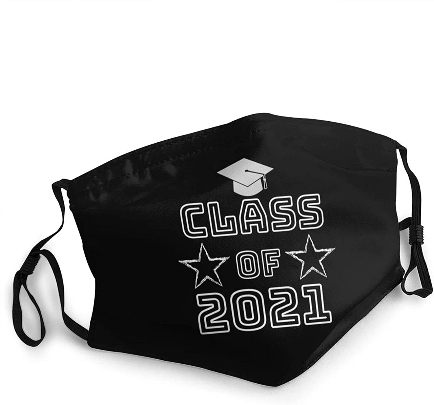 Class of 2021 Printed Design Face Mask,Men's Women's Outdoor Face Mask Reusable and Washable Adjustable Balaclavas
