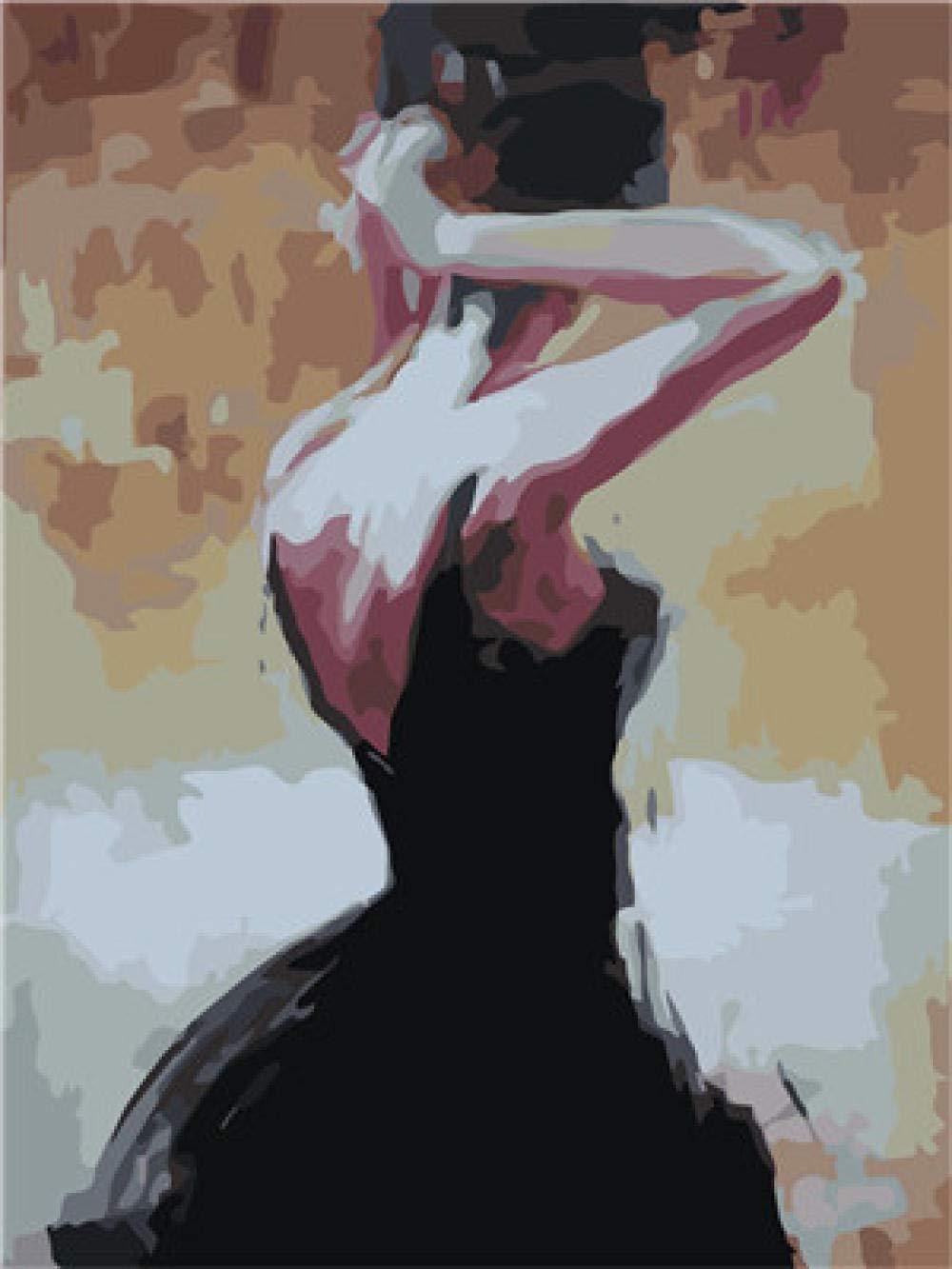 DIY Pintura al óleo Kit Pintura por números para Adultos con Pinceles y  Pinturas para Niños Seniors (16 x 20 Pulgadas, Sin Marco) - Falda Negra  Mujer: Amazon.com.mx: Juegos y juguetes