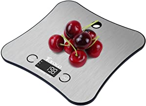 Digital Kitchen Food Weight Scale w/New Hanging Design, Large Stainless Steel Platform for Baking Cooking Diet(11lb/5kg Capacity, 0.05 Ounces/ 1 Grams Increment)- Home Gift Ideas