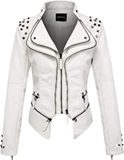 e1f965b60 Amazon.com: Whites - Leather & Faux Leather / Coats, Jackets & Vests ...