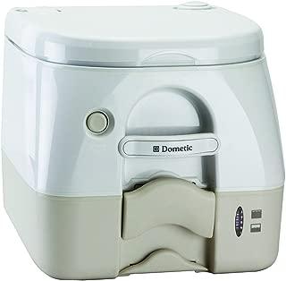 Dometic Sanitation Dometic - 974 Portable Toilet 2.6 Gallon - Tan W/brackets