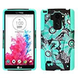 For LG G Stylo LS770 / LG Stylus H631 / ITUFFY 3items: Screen Protector Film+Stylus Pen+Dual Layer Impact Resistance Plastic Cover Soft Rubber Silicone KickStand Hybrid Case (Blue Paisley Sun Flower) -  Snaponcase