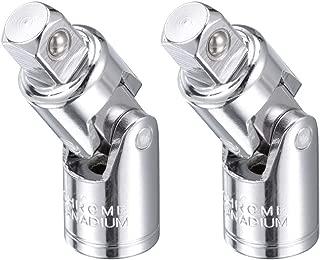 uxcell Universal Socket Joint 1/2-Inch Cr-V Steel Socket Adapter 2 Pcs