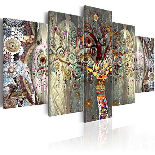 murando Cuadro en Lienzo Gustav Klimt 200x100 cm Impresión de 5 Piezas Material Tejido no Tejido Impresión Artística Imagen Gráfica Decoracion de Pared Arbol Bosque Abstracto l-A-0005-b-n