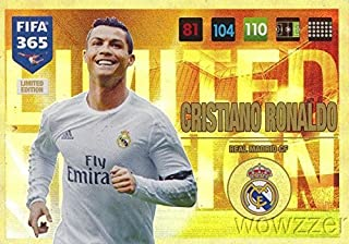 2017 Panini Adrenalyn XL FIFA 365 EXCLUSIVE Cristiano Ronaldo Limited Edition Card! Rare Awesome Special Great Looking Card Imported from Europe! Shipped in Ultra Pro Top Loader to Protect it !