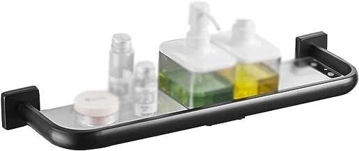 Badkamerplank, Roestvrijstalen Badkamer Glazen Plank met Badkamer Cosmetica Rek Keuken Positie Plaatsing Frame 4 Maat (Afm...