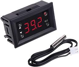 Basik W1218 - Termostato digital para incubadora con sonda (12 V CC), color rojo