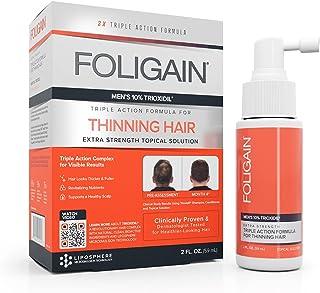 FOLIGAIN Lotion tegen Haaruitval voor Mannen - Bevat 10% Trioxidil - 59 ml