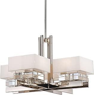 Metropolitan N6267-613 Eden Roe Chandelier, 8-Light 600 Total Watts, Polished Nickel