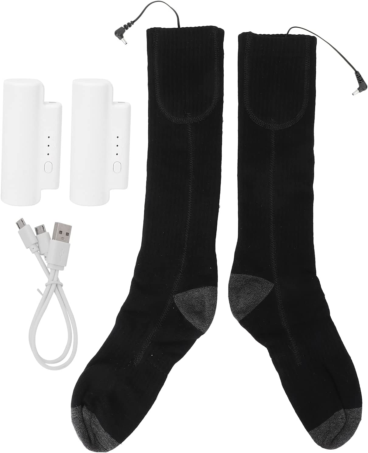 01 Electric Thermal Socks Heated Soft 2021 spring and summer new for Washable Finally resale start Cotton