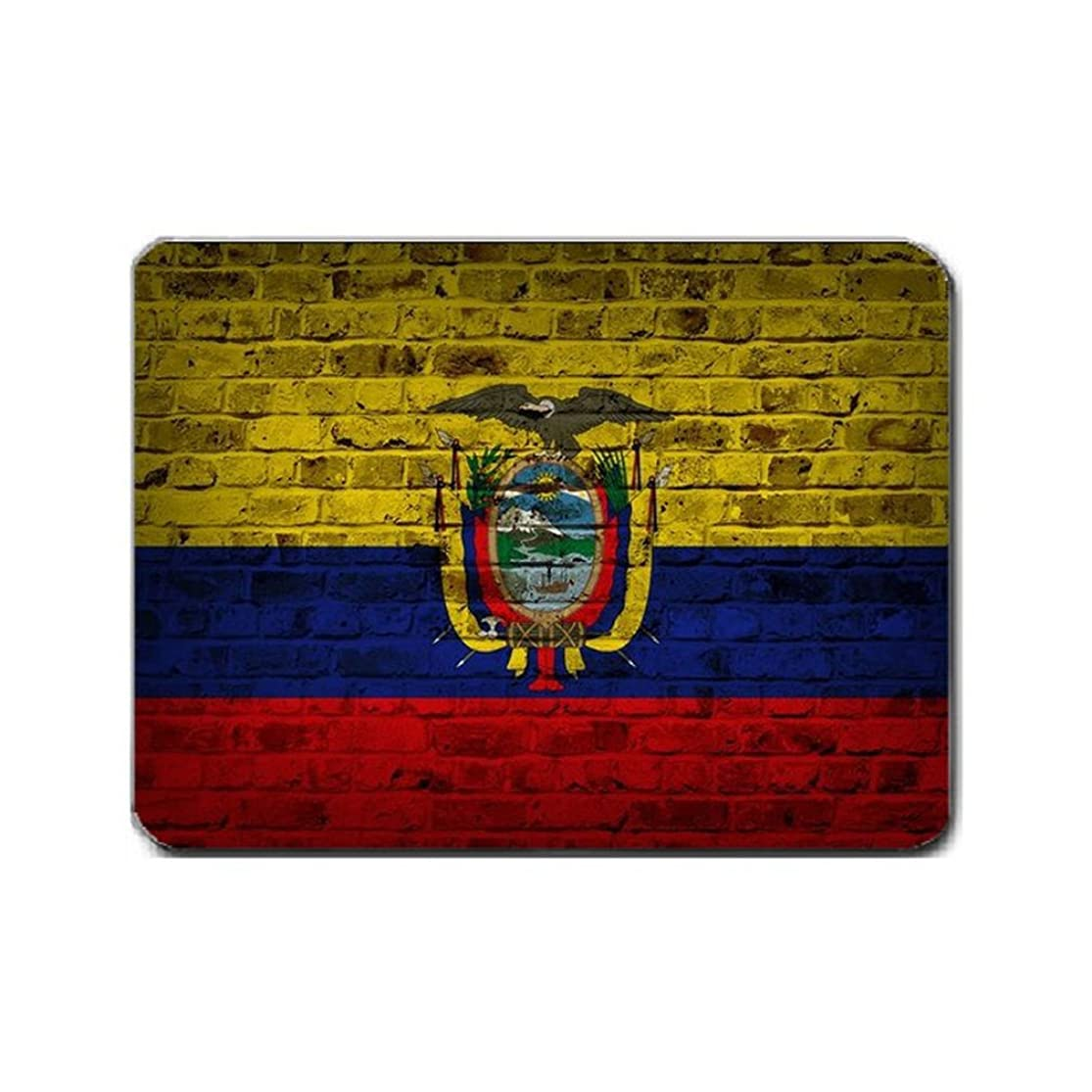 Ecuador Flag Brick Wall Design Mouse Pad xaugigbm0