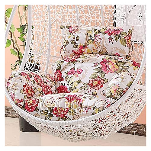XiYou Cojines para sillas de Muebles de jardín, Cojines para sillas relajantes Colgantes, Columpio de ratán para jardín, cojín para Silla de Huevo/Funda-redacción