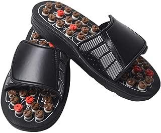 Warreal Massage Shoes, ACU-Point Slippers Accupressure Massage Foot Massager Flip Flop Sandals for Women Men