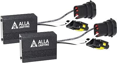 Alla Lighting Plug-N-Play Anti Flickering Warning Error Code Decoder Canceler Capacitor LED Headlight Fog Light DRL Kit Harness (H11 (H8, H9))