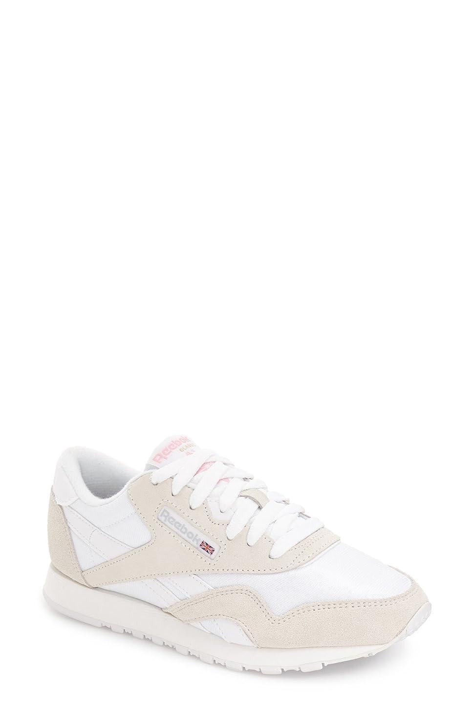 不倫したいフィクションリーボック シューズ スニーカー Reebok 'Classic' Sneaker (Women) White/ Lig [並行輸入品]