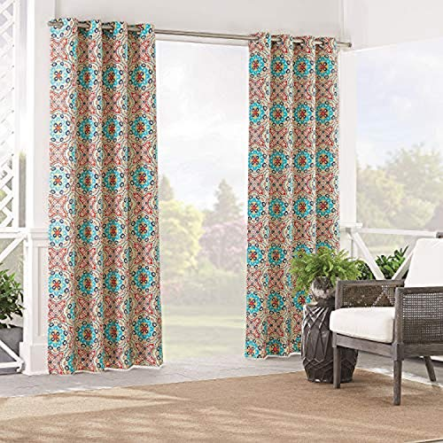 WAVERLY Sun n' Shade Indoor/Outdoor Curtains for Patio - Astrid 52