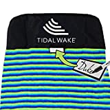 Tidal Wake TAG-IT Snub Nose Surf & Wake Board Sock Bag with Built-in Name Tag 58', Tag Your Bag - Personalize with Your Name! (Green &...