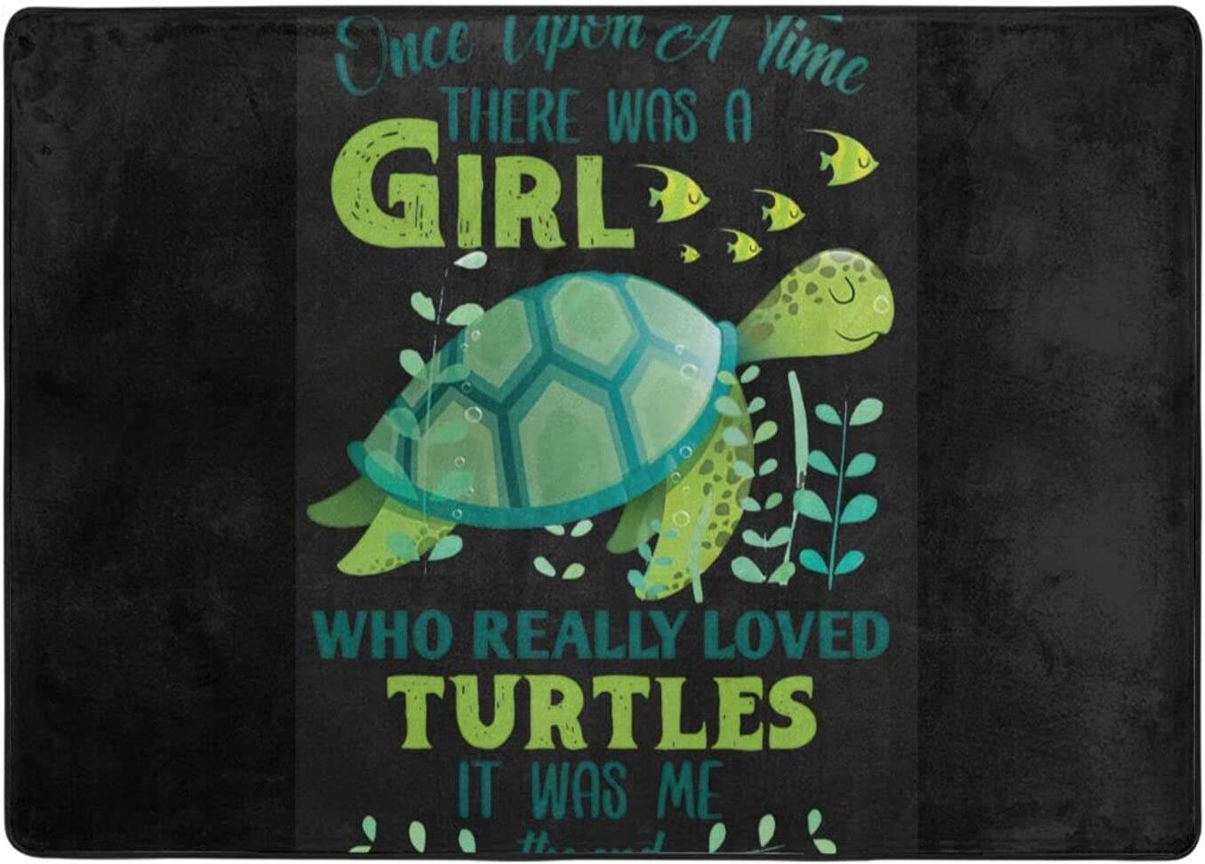 wobzfrok Max 67% OFF Just A Girl Special price for a limited time Who Loves Turtles Home Doormat and Novelty