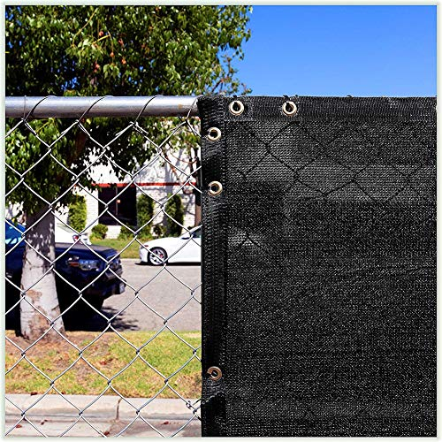 Filet d'ombrage Tissu en Tissu pour Abat-jour de Jardin Panneau de Confidentialité avec Œillets, Voile D'ombrage Rectangulaire Noire Auvent D'auvent pour Terrasse Pergola (Size : 1.8×5m)